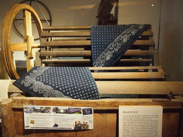 """Next to the """"peace palace"""", it is worth taking a look at the permanent exhibition depicting life throughout the course of the centuries: Blue print as one of the oldest textile crafts in Burgenland is the focus of another story I have already published here!"""