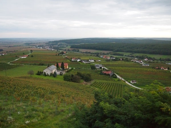 ... with views such as this one stretching all the way across Southern Burgenland and over the Pannonia plains in Hungary to the East.