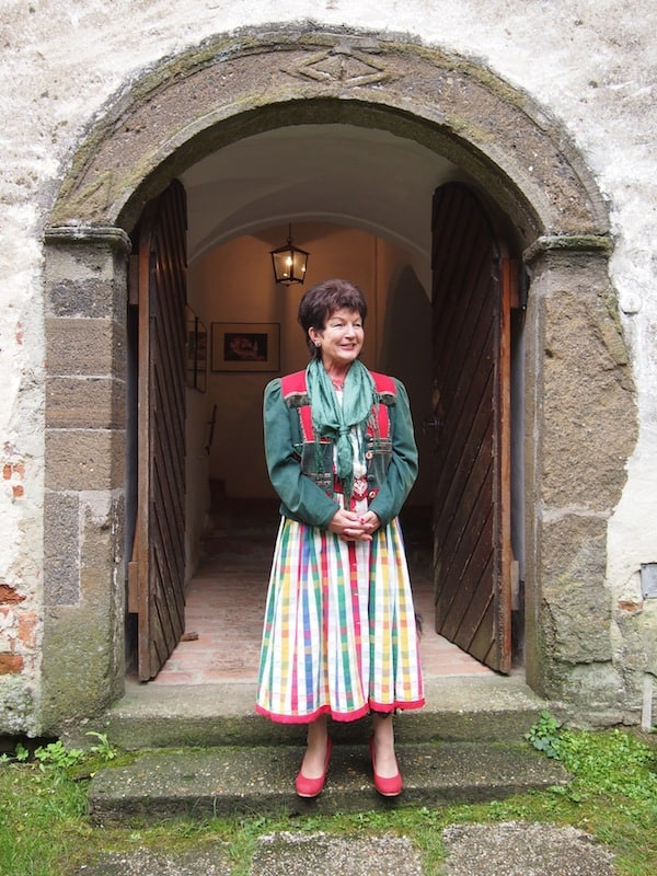 A warm welcome: Mrs … opens a door into past & present of this mighty fortress in the very south of Burgenland.