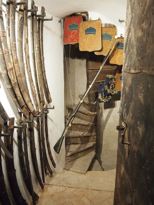 ... as well as the weapons depot and secret cellar (trap) doors of the Esterházy family ...