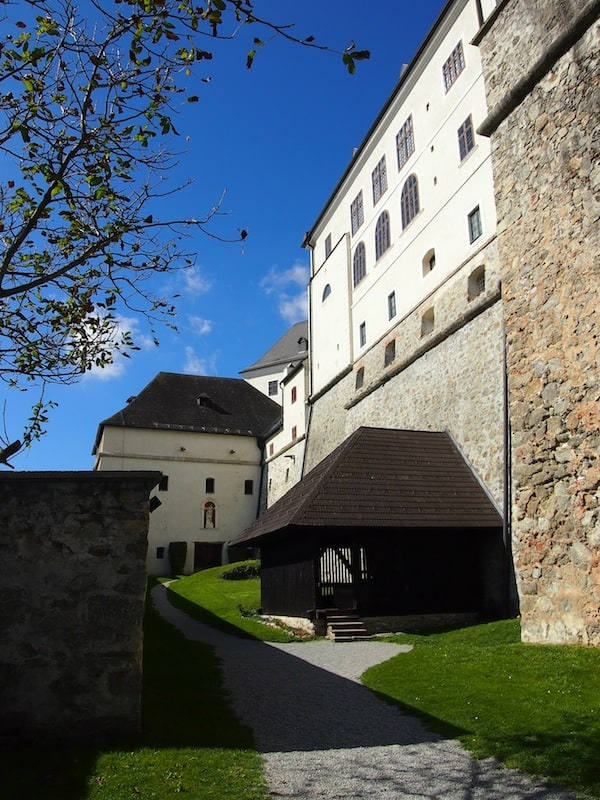 ... I am glad I get to end this visit with a sunny shot outside the fortified walls of Forchtenstein palace, taking in the relaxed, peaceful atmosphere of today.