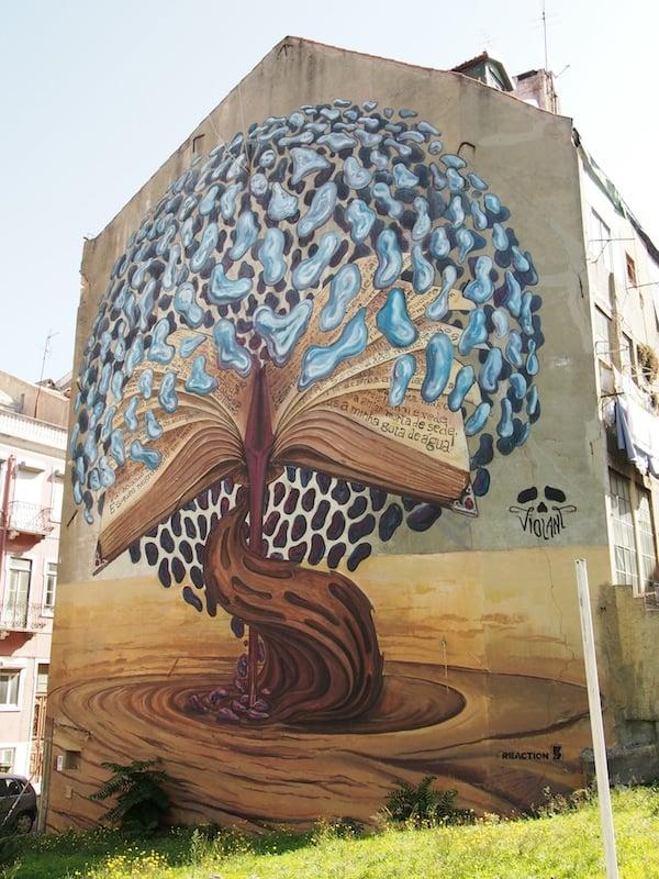 Noch mehr Street Art Kunst in Lissabon.