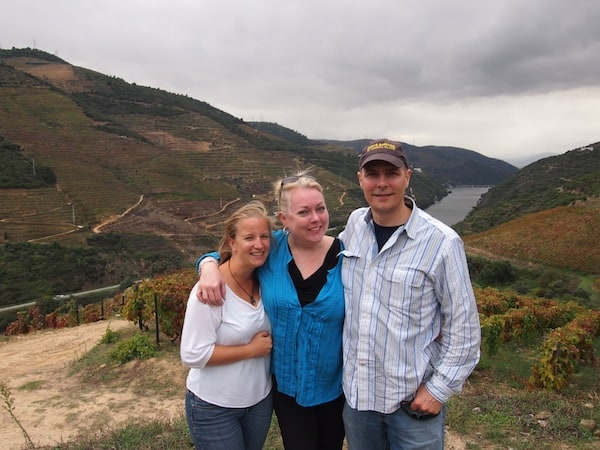 … as well as being our day's photographer: Moments to remember out in Douro valley with dear Richard & Mave!