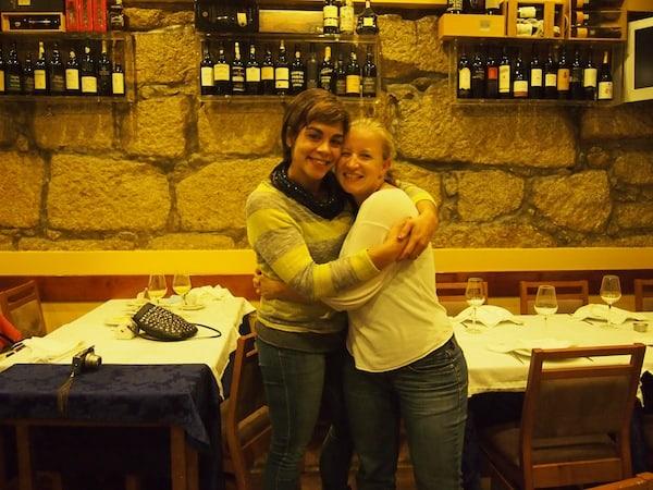 Danke auch Dir, liebe Melanie, für den unvergesslichen Abend im portugiesischen Lokal Touca ... beim Plaudern .