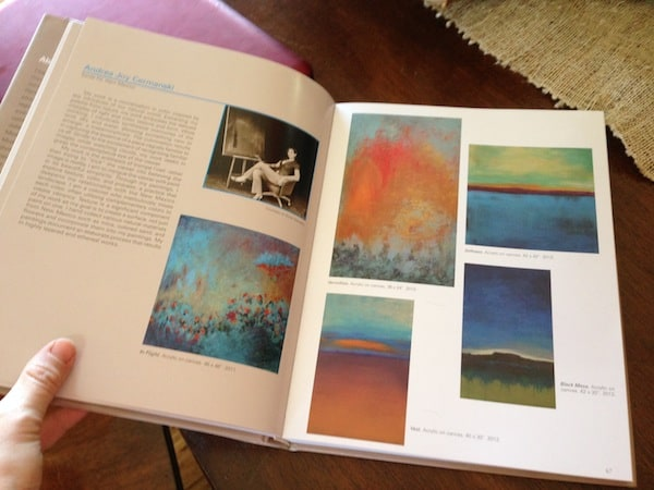 Zu Beginn unterhalten wir uns gemütlich über Andrea's Werdegang und kreativer Malerei ...