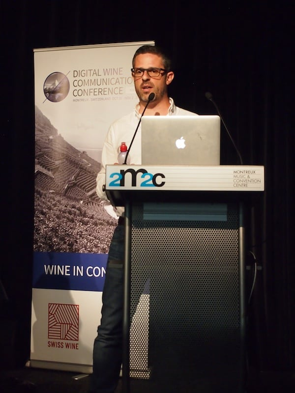 "André Ribeirinho, of Adegga Wine Market experience, delivering a passionate speech about creating ""wine communication fit for purpose"" ..."