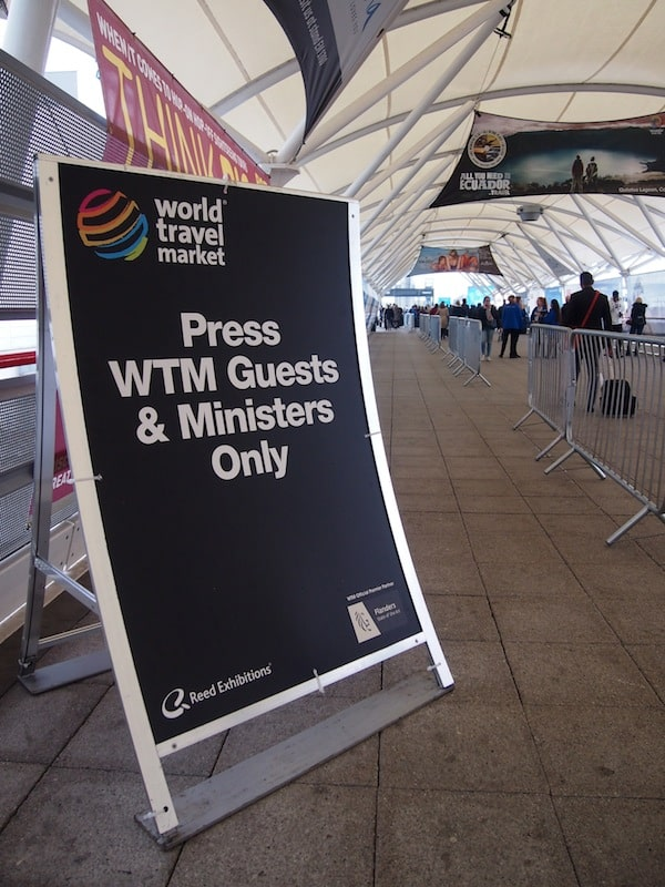 "Off we go for one more round: Starting the #WTM2014 World Travel Market experience in style - as ""member of the press""!"
