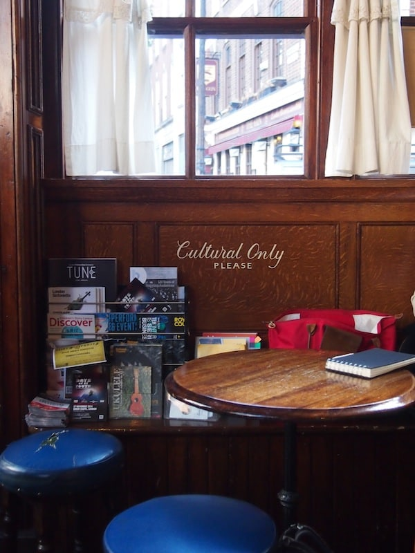 "Places with a soul: I love our stop at ""The English Restaurant"" just off Old Spitalfields Market ..."
