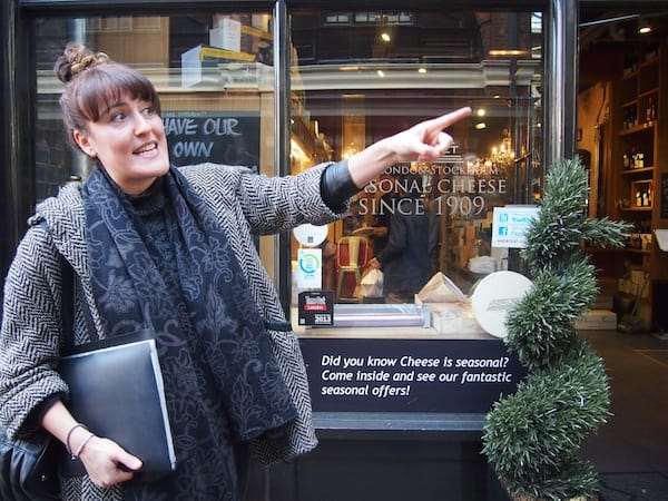 "From past to present: Nicole is a storyteller of a kind and has lots of great maps and images to support her expert tales of London's East End. Pointing us in the right direction for more food on our way, we enter ""The House of Androuet"" cheese lover's paradise!"