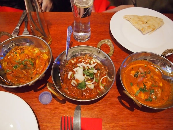 "Great curries on display at the ""Aladin"" restaurant, voted among the best Indian restaurants in London!"