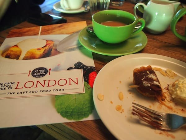 My salted caramel tart is gone quickly, despite being really, really full by now ... in fact, this Eating London Food Tour provided me with what I needed for the entire day (and more!).