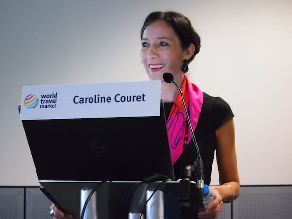 Dear Caroline Couret presenting Creative Tourism as an international travel trend at the London World Travel Market!