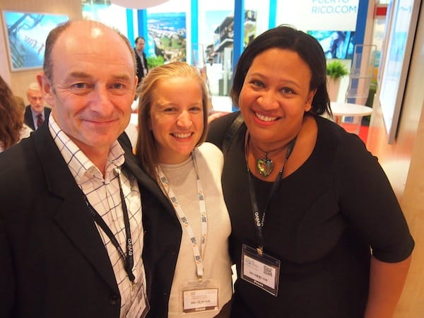 ... while we are celebrating the good times networking with friends & colleagues: Happy again with dear Terry & Sarah Lee, of LiveShareTravel here in London!