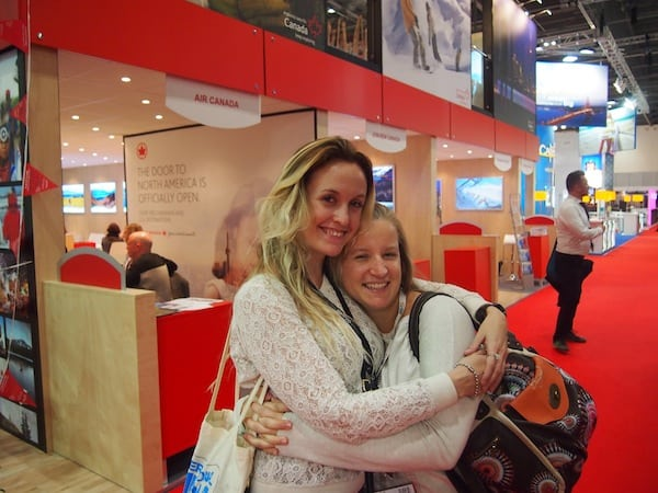Meeting my dear Becki, of BordersOfAdventure, once more after #STSLeipzig earlier this year: