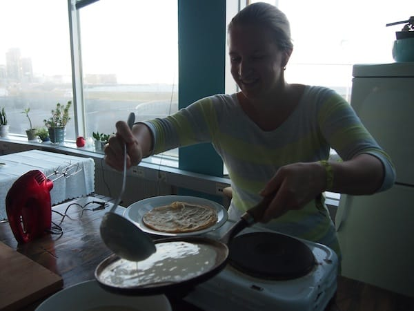 "... ahead of making my own, very thin Icelandic pancakes for ""afternoon tea""!"