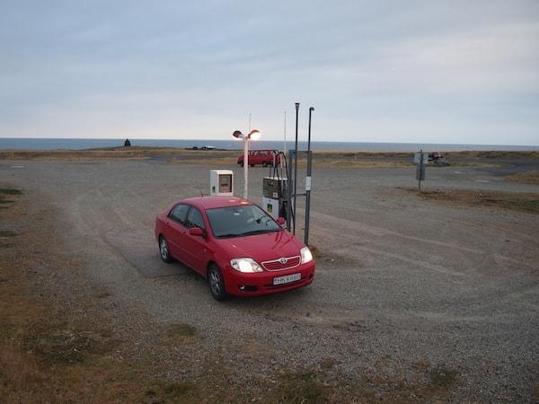 Tankstelle auf Isländisch!