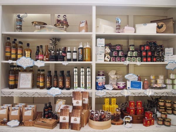 Besides cheese, the delicatessen shop features lots of different produce all sourced from local farmers around the country.