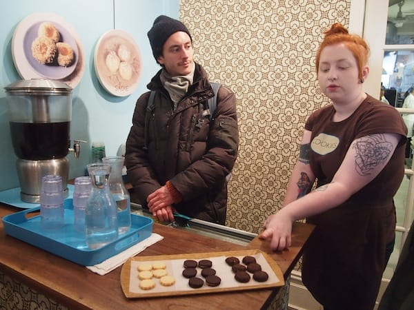"Tasting mouth-sized cookies with sizzling aromas such as Rosemary Thyme, gluten-free cocoa cookies and tasty chocolatey ones, at ""One Girl Cookies""!"