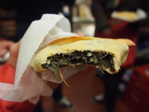 "Damascus Bread & Pastry serve us this ""little snack"" on the go as part of our Urban Oyster food tour …"