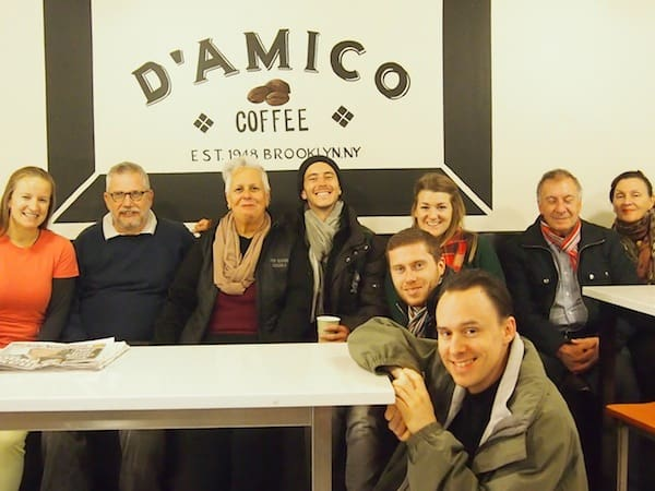 "… while later, after sharing all the inspiration to develop D'Amico at the heart of Brooklyn community, we pose for this happy ""family picture"" of the day!"