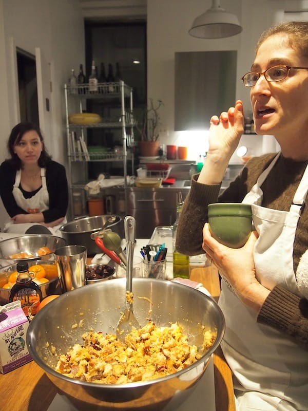 "It gets exciting as we start ""cooking things up"" later that day, at Jennifer's Home Cooking New York cooking school ..."