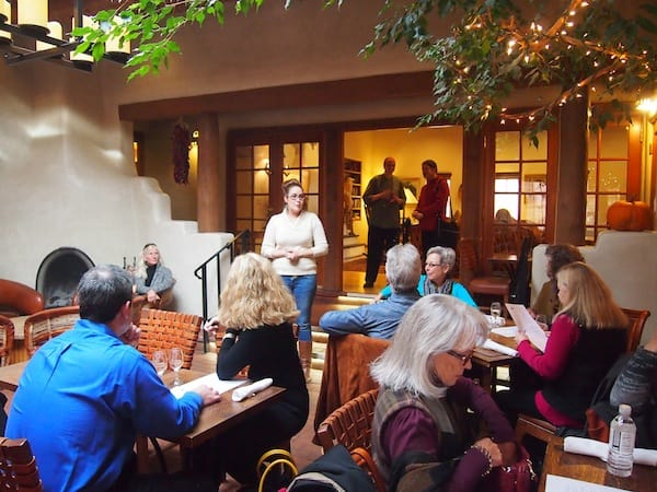 "Our food lover exploration on this Restaurant Walking Tour offered by the Santa Fe School of Cooking starts with a visit to ""Inn on the Alameda""."