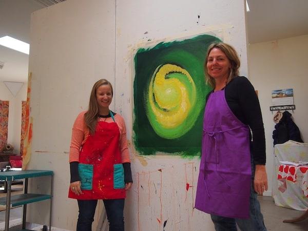 ... dieses Kunstwerk in unserer Mitte: Vielen Dank, liebe Julie, für Deine Geduld & Deine Inspiration während dieses Vormittags hier in Santa Fe!