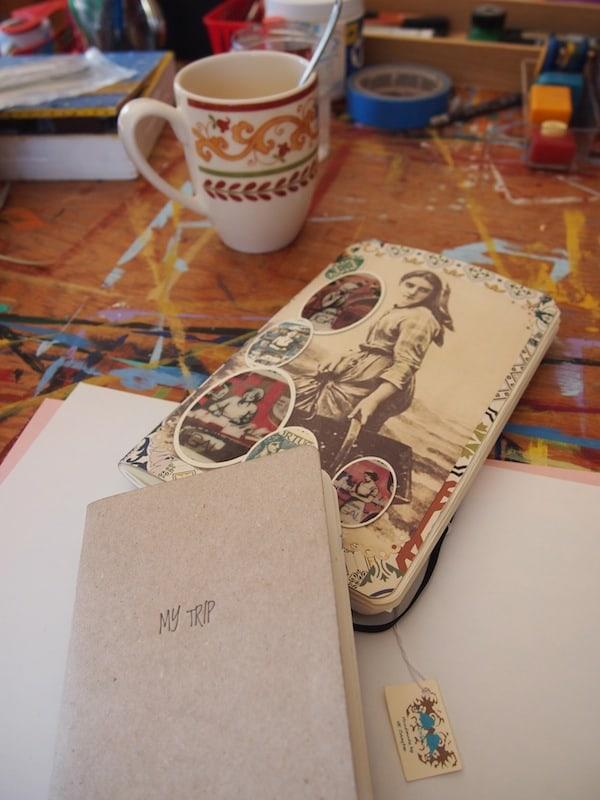 ... beim Gestalten und Verbessern meines eigenen, bereits begonnenen Reisetagebuchs von #CreativElenaRTW!