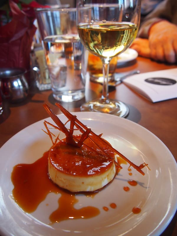 Dessert is just delightful: A Coconut Flan with Salted Caramel on top ...!