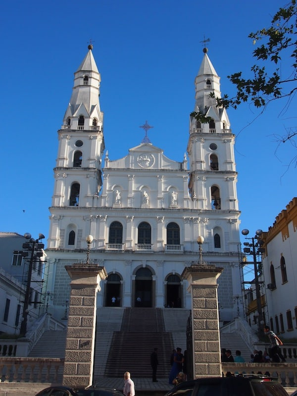 "... talking a walk along famous buildings, such as this church Igreja Da Nossa Senhora Das Dores. Inside, a wedding takes place, the ""waiting list is two years"", Jorge tells me and smiles. A good test to see if you can actually stay together, don't you think?"