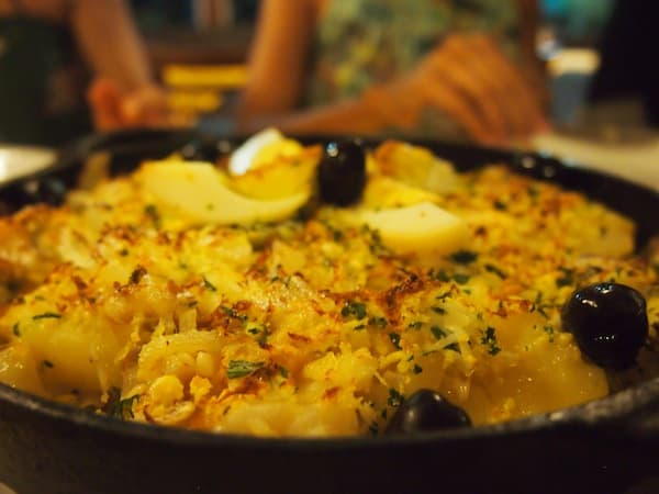 ... dig in is what this Bacalhao family meal beckons: Serving sizes are certainly generous around here!