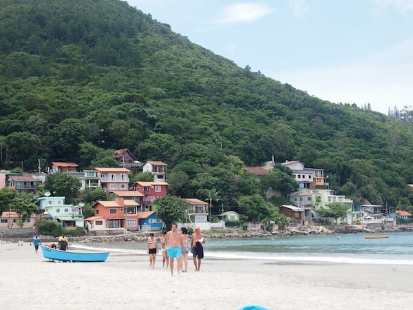 … as well as watching a bit of everyday beach life go by at Pântano do Sul ...
