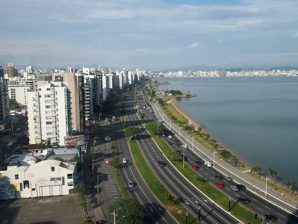 True luxury: The view from my hotel room on the 10th floor of the Majestic Palace hotel in Florianópolis!