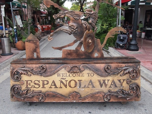 "We continue our way down ""Española Way"" ..."