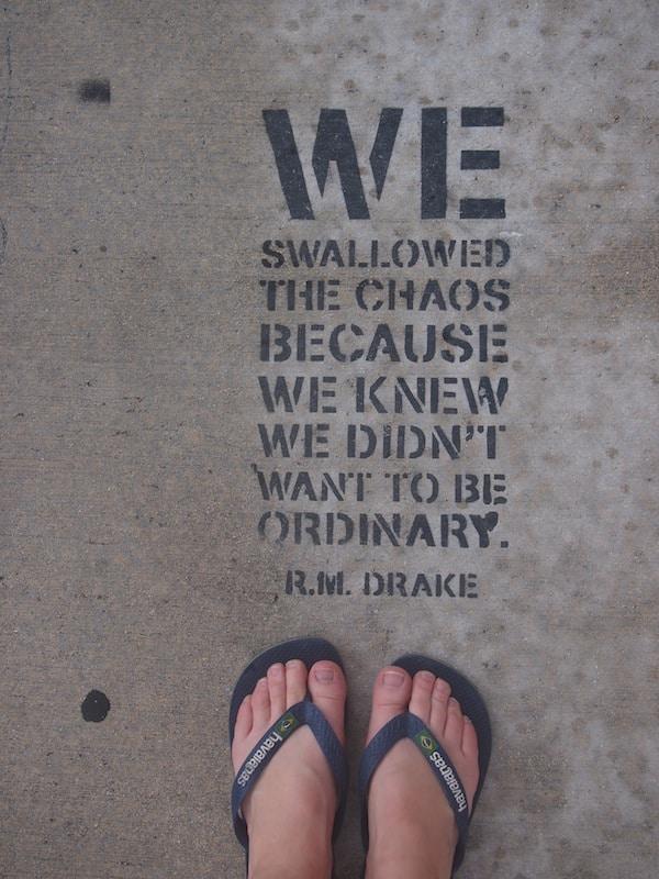 """Auf dem Weg zu """"Footsteps To Freedom"""" fotografiere ich """"meine eigenen Spuren"""" in diesem coolen Stadtviertel Miamis.!"""