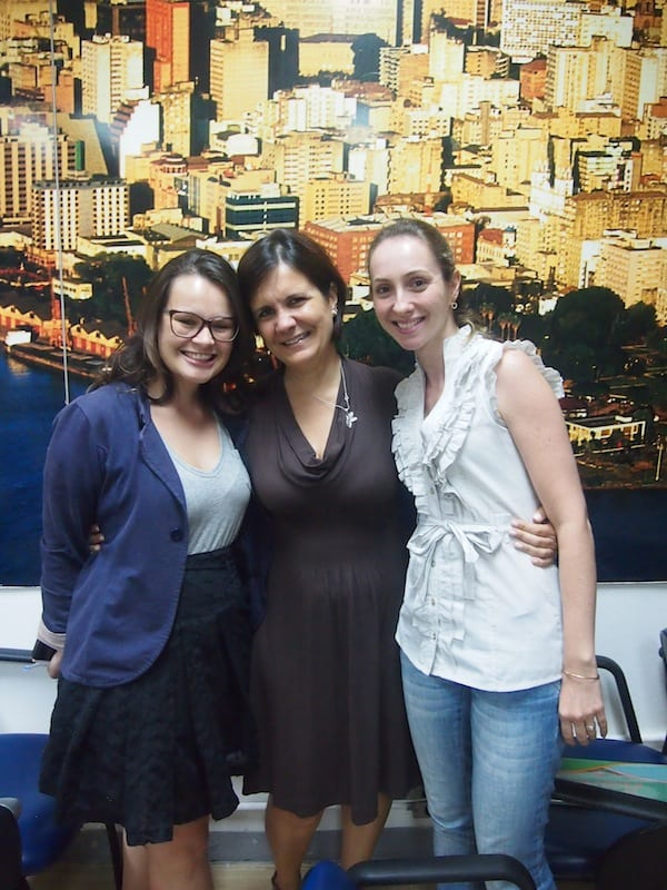 Thank you so much, dear Maria Luiza, dear Cinthia, as well as all your colleagues for those wonderful days in beautiful Brazil. It is hard for me to say goodbye … Tantas Saudades! In any case, I vow to come back soon again!