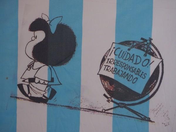 """""""Mafalda"""", die bekannte argentinische Comic-Figur, lässt grüßen ...!"""