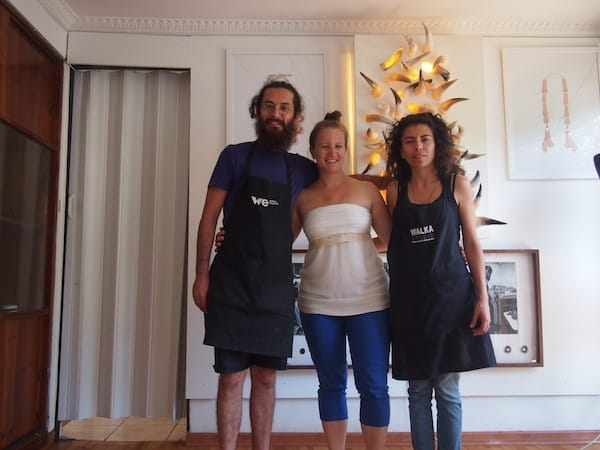 ... where I meet with charming local artist couple Nano Pulgar, of Walka Studio, who count among Chile's most well-known contemporary jewellery artists (always tracing the creative locals of this world!).