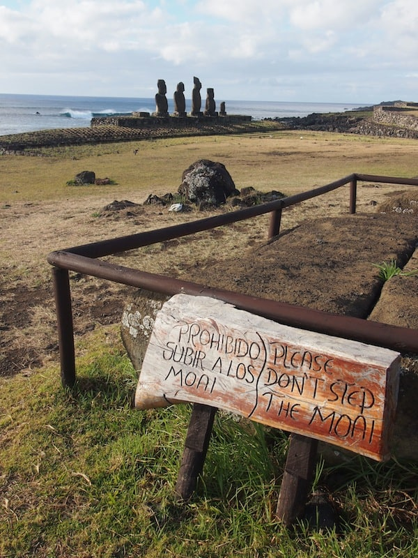 "Everywhere, signs ask visitors to look after this great ""open-air museum"" that is Easter Island, both spiritually and culturally …"