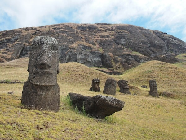 "… is as mystical as it is fascinating: Here we are right at the ""birthplace"" of all Moai that have ever been carved and sculpted from Rano Raraku, the holy mountain on Easter Island."