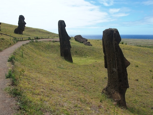 "From here, all Moai have ""made their way"" down the mountain, having been transported to their former ceremonial sites all over the island – just how exactly, remains a mystery forever."