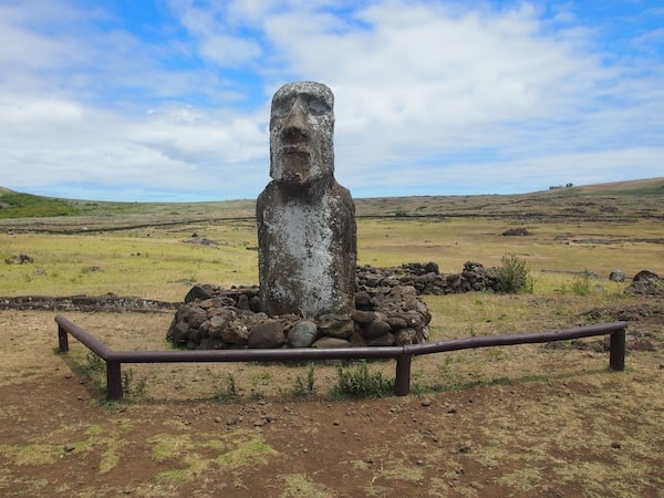 "… altogether, some 1.000 Moai have been carved, and erected, during the Rapa Nui heyday spanning more than 500 years! This one here, ""El Viajerito"", has even made it to Japan (and back) for an exhibition."