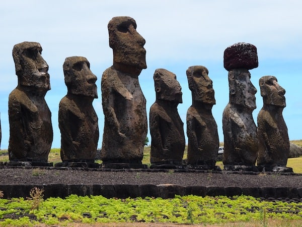 "… what with the ""assembly of the Elders"" & spiritual leaders that the Moai represent, a human achievement unparalleled on this planet. The largest Moai here, 10 metres tall, weighs 80 tons!"