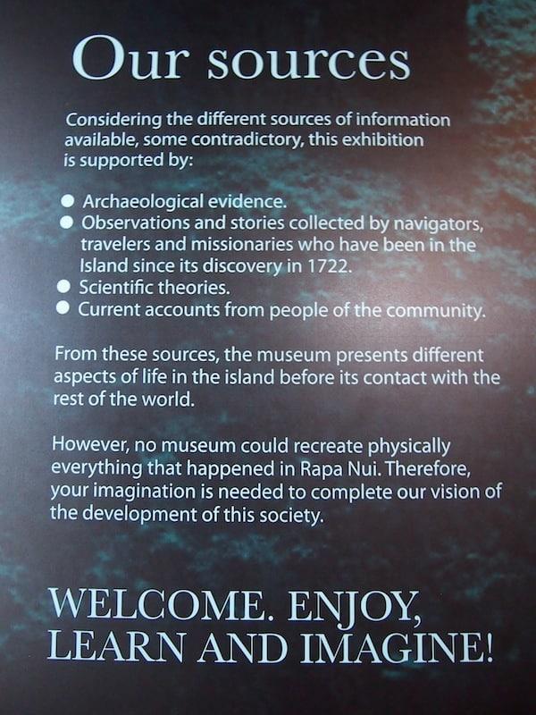 """Wir erfahren schließlich mehr im Museum der """"Hauptstadt"""" der Osterinsel, ein Museum das in Abwesenheit ausreichender Fakten zur eigenen Fantasie & Vorstellungskraft aufruft!"""