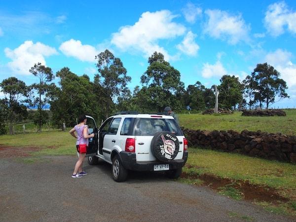 Wir beginnen unseren Tag über der Erde mit der Erkundung des höchsten Vulkanberges der Insel, genannt Maunga Terevaka mit gut 500 Meter über dem Meeresspiegel.