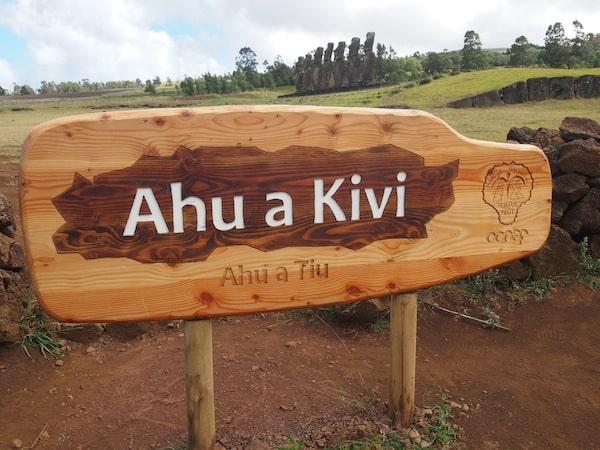 Die heilige Stätte Ahu A Kivi gebietet uns erneut Ehrfurcht ...