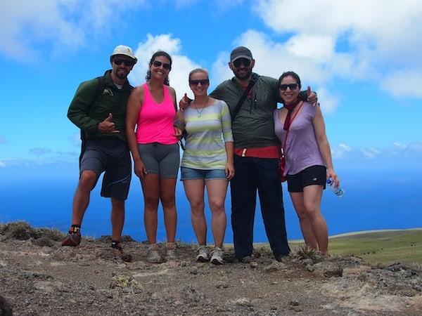 Zusammen ist man weniger allein: Siegerfoto mit Lorena & Washington aus Chile (rechts von mir) sowie Daniela & João aus São Paulo in Brasilien.