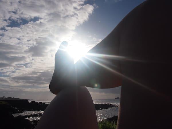... und hochgelagerte Füße mit Musik im Ohr, so stell' ich mir einen guten Tagesausklang vor ...!