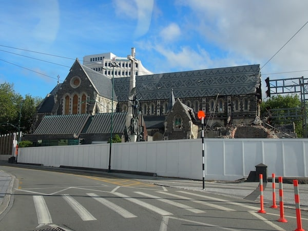 Controversy continues to linger over Christchurch's half-demolished Cathedral: Should it be taken down completely, or rebuilt?