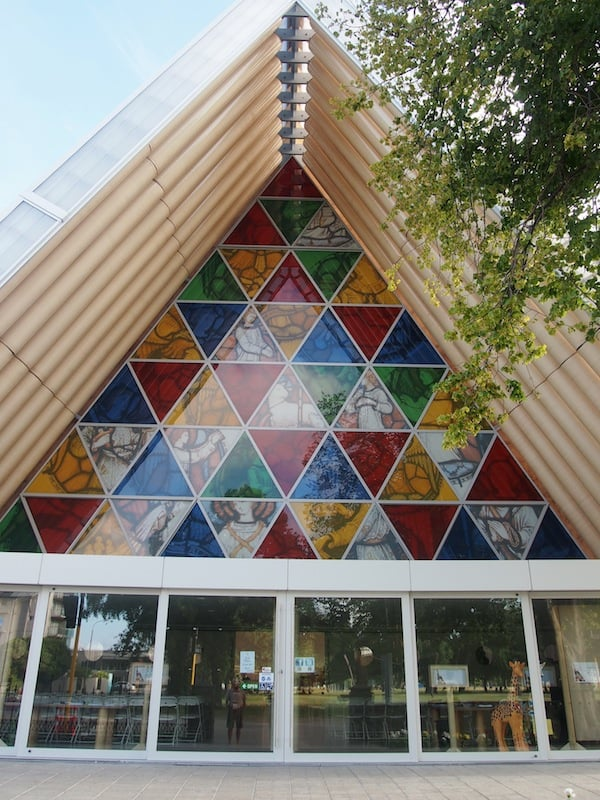 "A view upon the ""Christchurch Transitional Cathedral"" here."